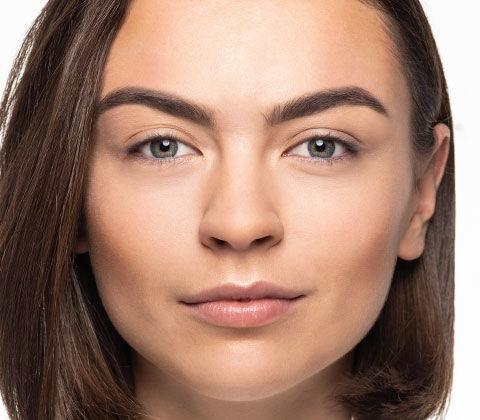 Vorher/Nachher des Date Make-ups