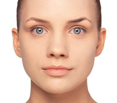 Hier wird der Vorher/Nachher Effekt des Schminktipps Unreine Haut dargestellt