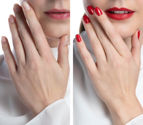 Manicure before and after