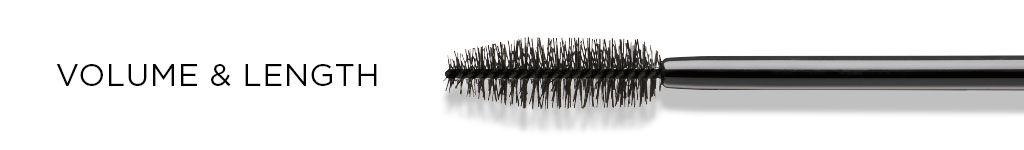 Zu Volumen & Länge wird eine passende Mascara-Bürste gezeigt