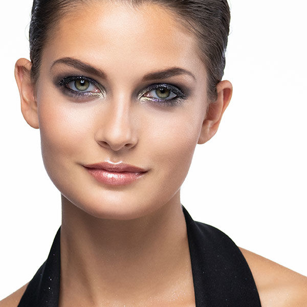 End-Look des X-Mas Make-up Schminktipps