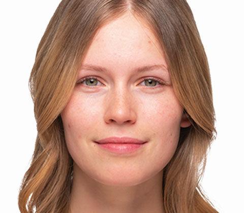 Der Vorher und Nachher Effekt des Braut Make-ups