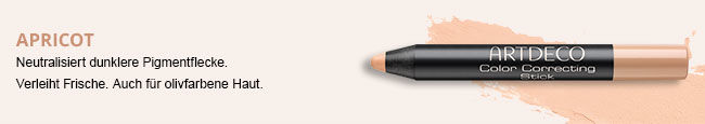 Hier siehst Du den Color Correcting Stick in der Farbe Apricot
