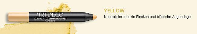 Hier siehst Du den Color Correcting Stick in der Farbe Gelb