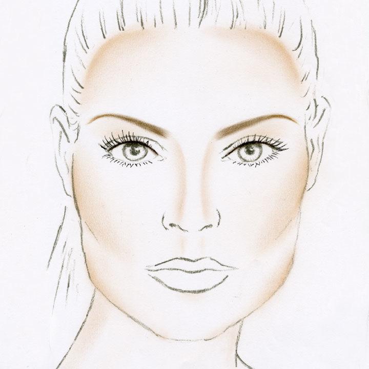 Eine eckige Gesichtsform mit einer passenden Augenbrauenform